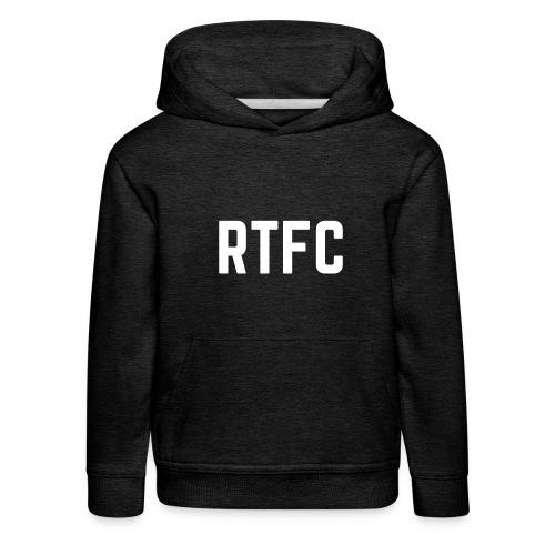 RTFC initials white II - Kids' Premium Hoodie