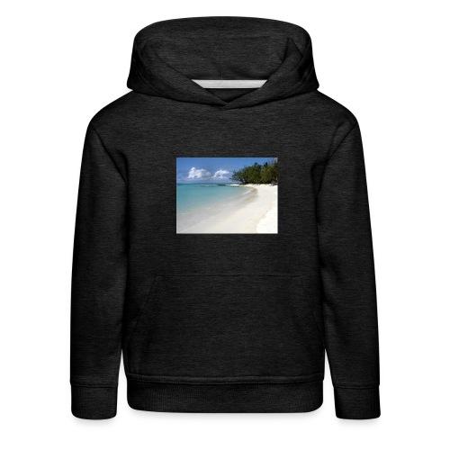 plage-ile-maurice - Pull à capuche Premium Enfant
