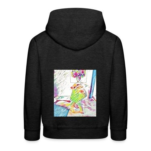 Artzy Helge - Premium hættetrøje til børn