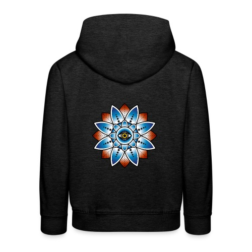 Psychedelisches Mandala mit Auge - Kinder Premium Hoodie