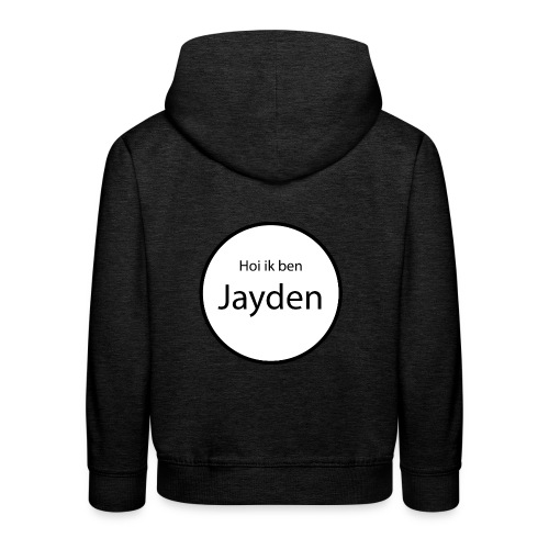 Jayden - Kinderen trui Premium met capuchon