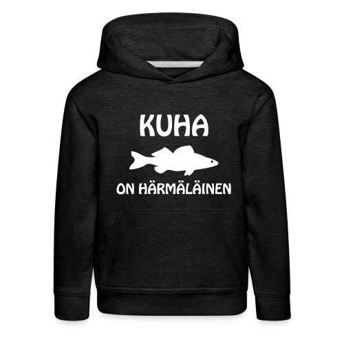 KUHA ON HÄRMÄLÄINEN - Lasten premium huppari