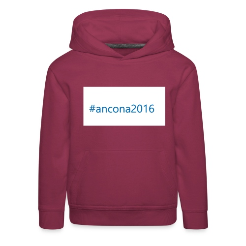 #ancona2016 - Sudadera con capucha premium niño