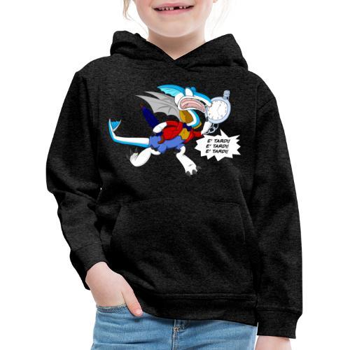 BiancoDrago Nix - Felpa con cappuccio Premium per bambini