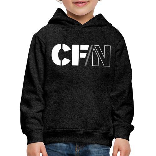 CFN White Grey - Premium-Luvtröja barn