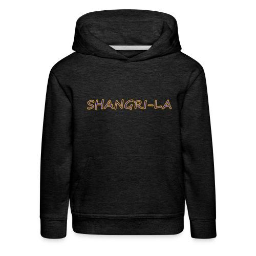 Shangri La goldblau - Kinder Premium Hoodie