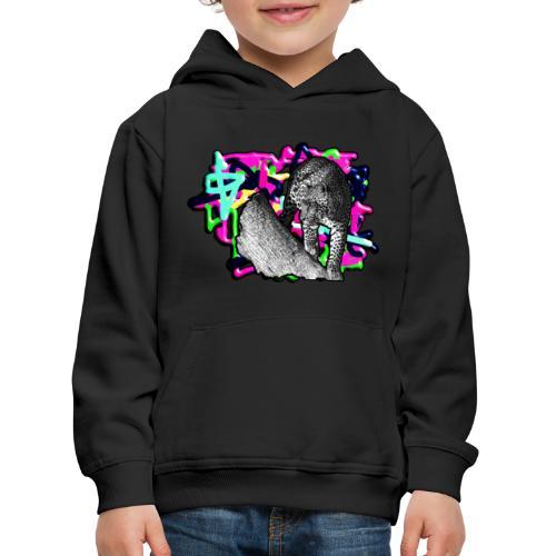 Leopard auf Bunt - Kinder Premium Hoodie