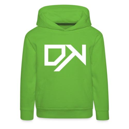 DewKee Logo Cap White - Kids' Premium Hoodie