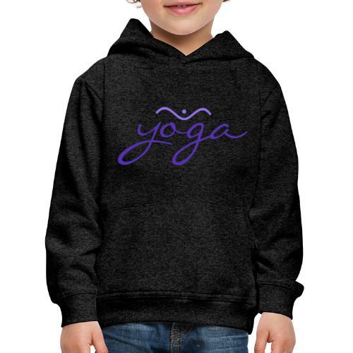 Yoga Balancing Typography And Emblem 3 - Kinder Premium Hoodie
