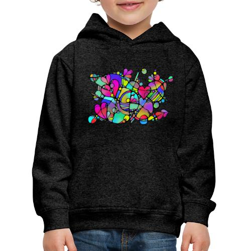 Abstrakte Kunst Neuro Art LOVE IS CRAZY 5 - Kinder Premium Hoodie