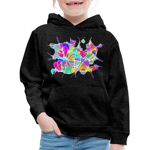 Abstrakte Kunst Neuro Art LOVE IS CRAZY 6 - Kinder Premium Hoodie