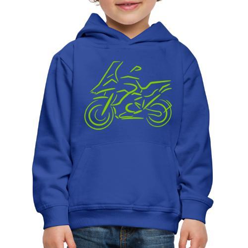 Motorrad Fahrer, Bike, Biker, 1200 - Kinder Premium Hoodie