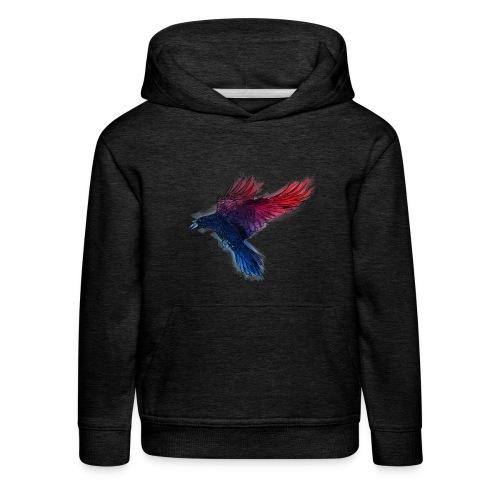 Watercolor Raven - Kinder Premium Hoodie