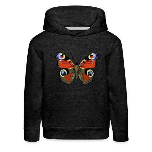 vlinder1_d - Kinderen trui Premium met capuchon