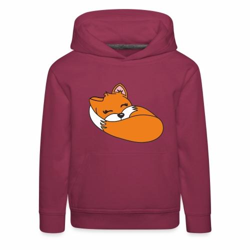 Fuchs schlafend - Kinder Premium Hoodie