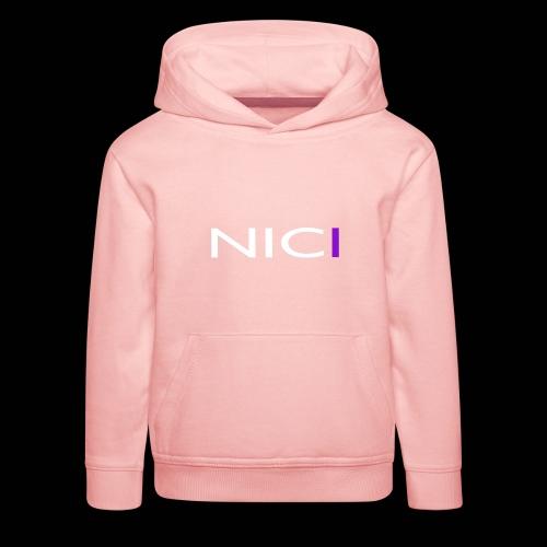 NICI logo WHITE - Lasten premium huppari