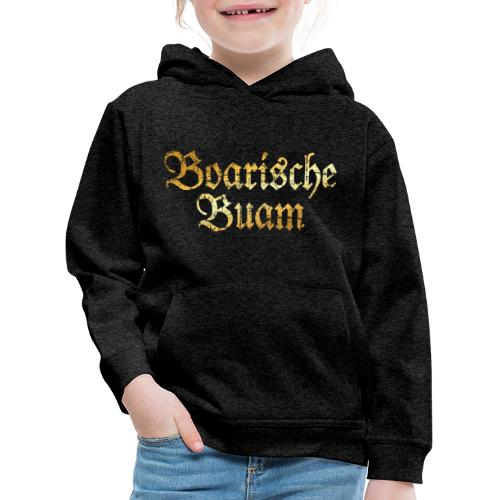 Boarische Buam - Bayerische Buben (Vintage/Gelb) - Kinder Premium Hoodie