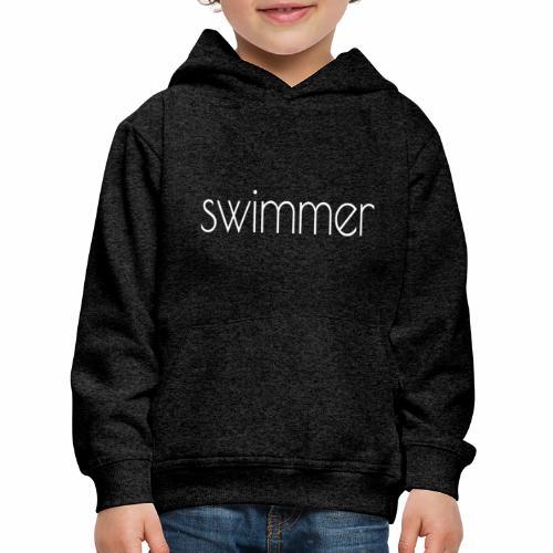 swimmer text white - Kinder Premium Hoodie