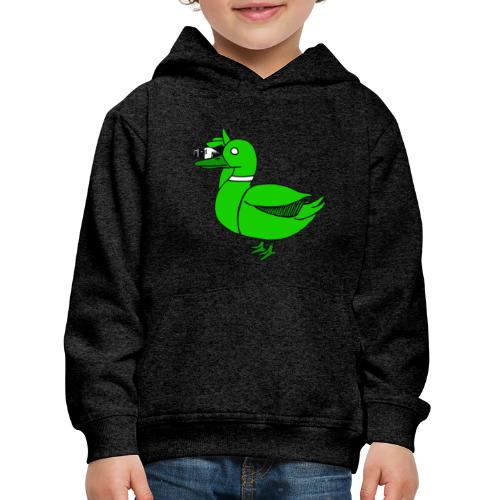 Greenduck Film Just Duck - Premium hættetrøje til børn