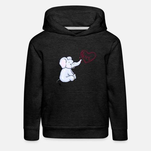 Baby Elefant love - Kinder Premium Hoodie