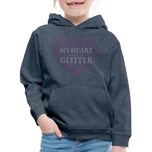 Glitzer Herz - Kinder Premium Hoodie