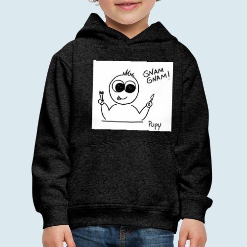 Pupy: gnam gnam! - boy - Felpa con cappuccio Premium per bambini