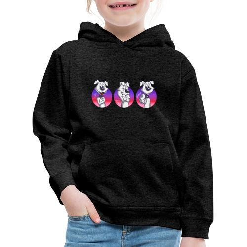 "Comic Hund in Gebärdensprache ""I love you"" - Kinder Premium Hoodie"