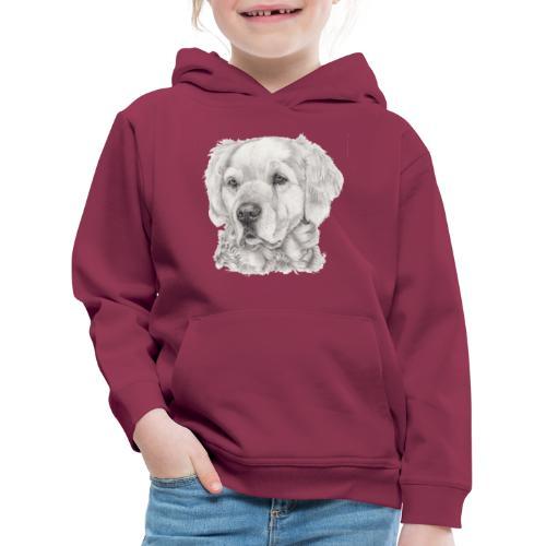 golden retriever - Premium hættetrøje til børn