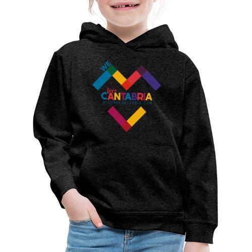 Welovecantabria logo - Sudadera con capucha premium niño
