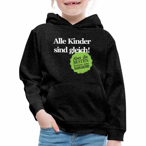 Kinder sind gleich, außer Kahlgründer - WEIß/GRÜN - Kinder Premium Hoodie