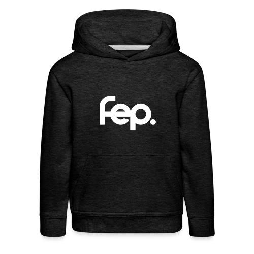 FEP logo black sticker k17 01 - Kids' Premium Hoodie