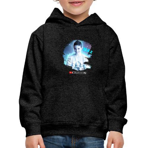 Max Random - Felpa con cappuccio Premium per bambini