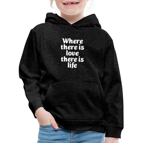 Iiebe und Leben - Kinder Premium Hoodie