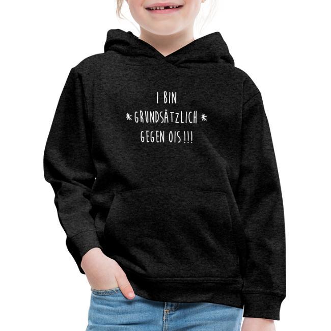 Vorschau: I bin gegen ois - Kinder Premium Hoodie