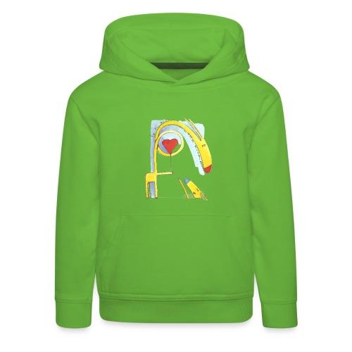 Giraffa innamorata - Felpa con cappuccio Premium per bambini