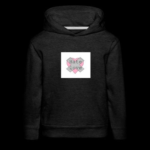 Hate love - Sudadera con capucha premium niño