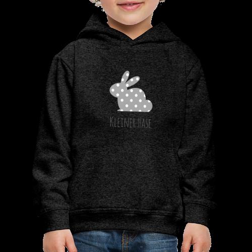 Hase grau - Kinder Premium Hoodie