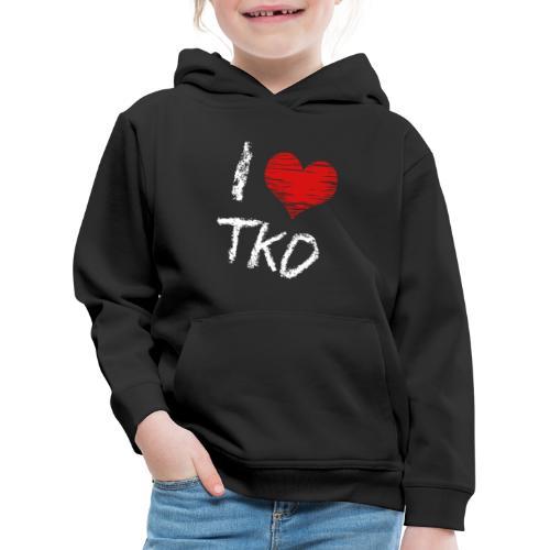 I love tkd letras blancas - Sudadera con capucha premium niño