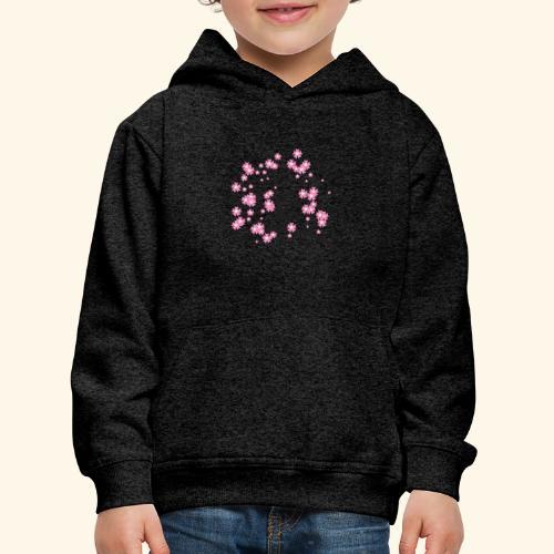 Pink blossoms branch - Kids' Premium Hoodie