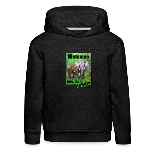 Willkommen im Dschungel - Kinder Premium Hoodie