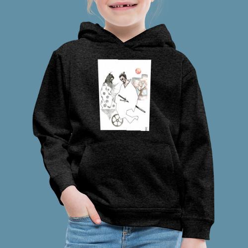 Samurai copia jpg - Felpa con cappuccio Premium per bambini