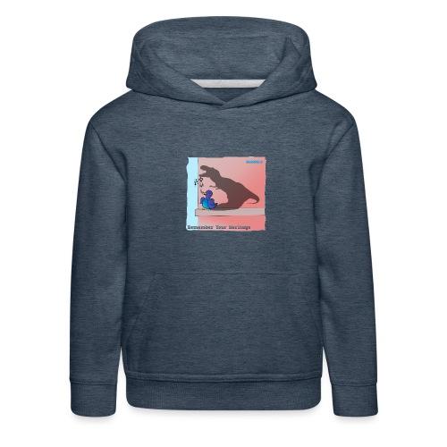 Woofra's Design Heritage - Kids' Premium Hoodie