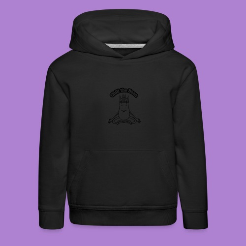 Chill the Bean black outline - Kids' Premium Hoodie