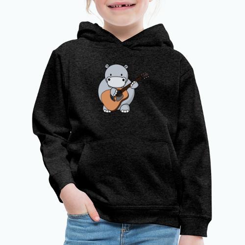 Henri Hippo Guitar - Appelsin - Premium-Luvtröja barn