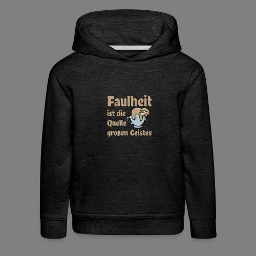 Faulheit - Kinder Premium Hoodie