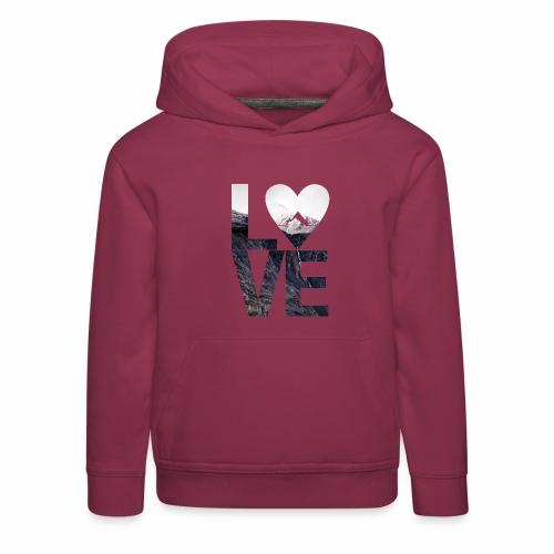 L.O.V.E - Mountains - Kinder Premium Hoodie
