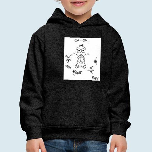 Pupy: oh-oh... - boy - Felpa con cappuccio Premium per bambini