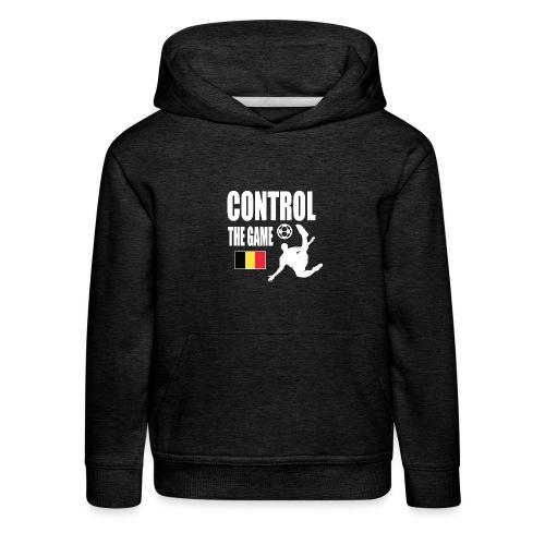 Control The Game Belgium - Kinderen trui Premium met capuchon