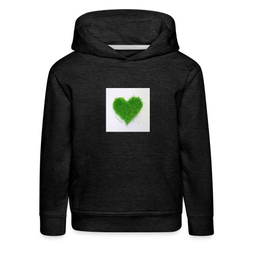 Herzrasen Button - Kinder Premium Hoodie