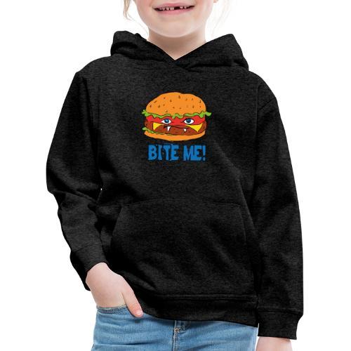 Bite me! - Felpa con cappuccio Premium per bambini